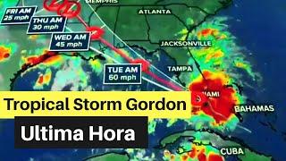 Ultima Hora: Tropical Storm Gordon Rumbo - El Tiempo