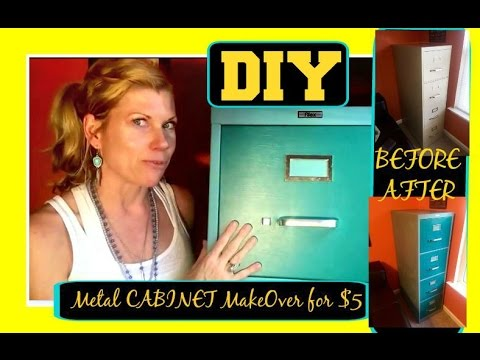 How to paint a metal Filing Cabinet    I      DIY     I      Easy Project