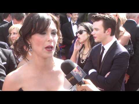 Michelle Forbes, The Killing: Primetime Emmys Red Carpet