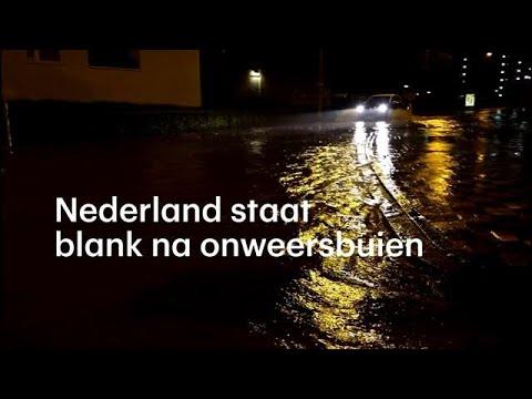 Grote delen Nederland blank na onweersbuien - RTL NIEUWS