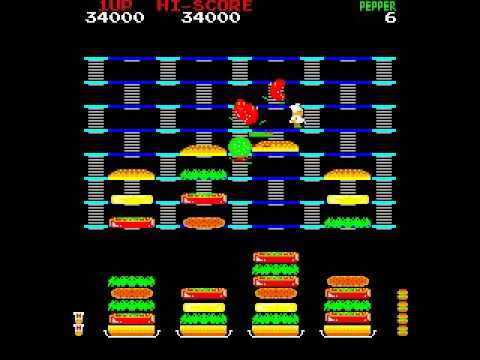 BurgerTime (ARCADE) How They Make Fast Food Burgers