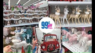 99 CENT STORE SHOP WITH ME! GLAM & GIRLY CHRISTMAS DECORATIONS!