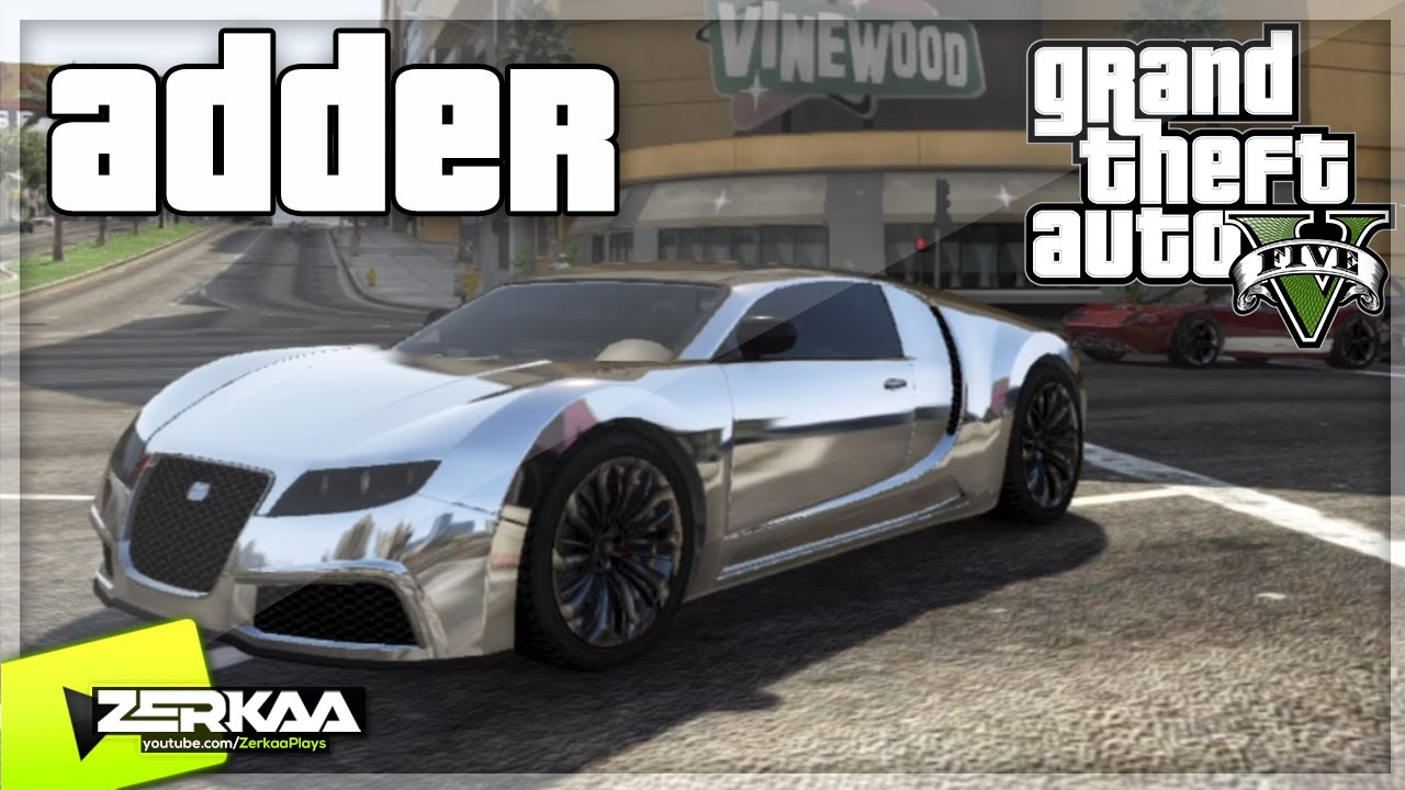gta v secret car location adder bugatti veyron 1 000 000 car youtube. Black Bedroom Furniture Sets. Home Design Ideas