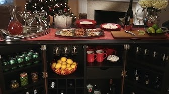 How to Set Up a Beautiful Holiday Bar