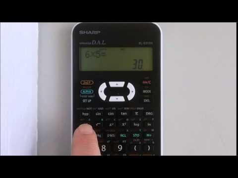 Using memory on a scientific calculator