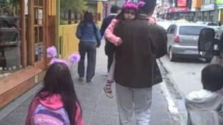 USHUAIA - walk along the mainstreet in Ushuaia, kingcrab restaurant