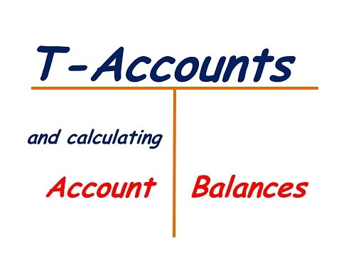 T-Accounts And Account Balances