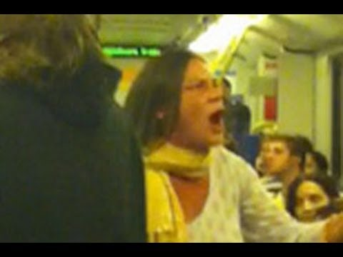 Racist Lady On Train  - Australia 2013
