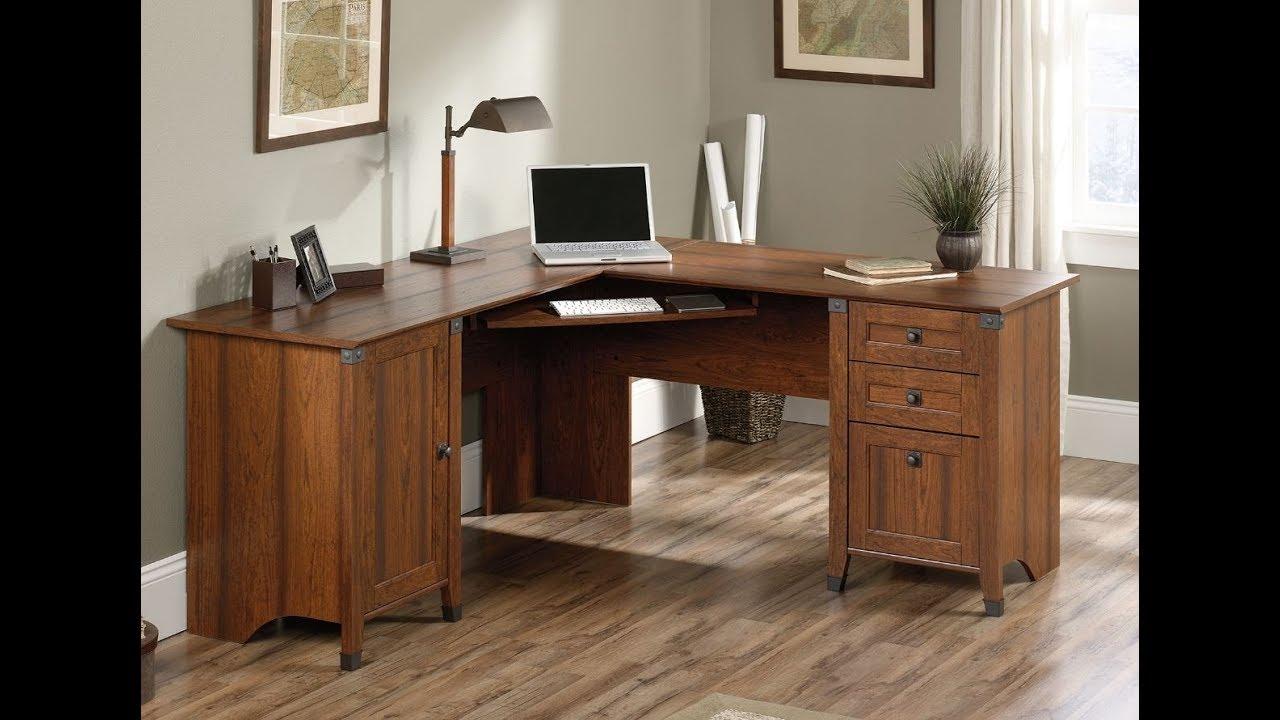 Sauder Corner Desk Carson Forge Collection Assembly Guide Tutorial