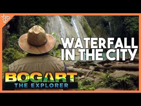 WATERFALL IN THE CITY! Filipino Travel w Bogart the Explorer