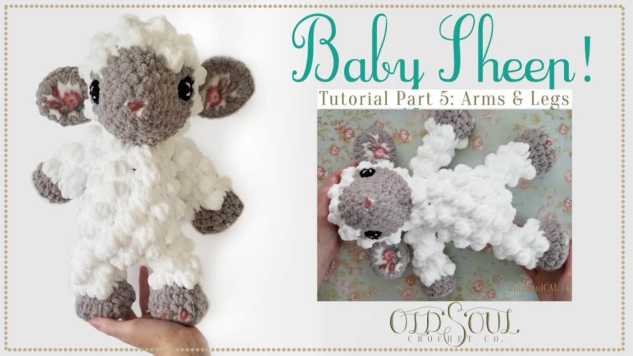 Baby Sheep Crochet-Along! | Part 5: Arms, Legs & Tail!