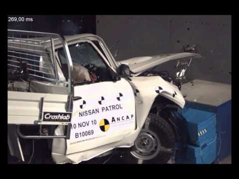 ANCAP CRASH TEST Nissan Patrol Cab Chassis 3 star ANCAP safety