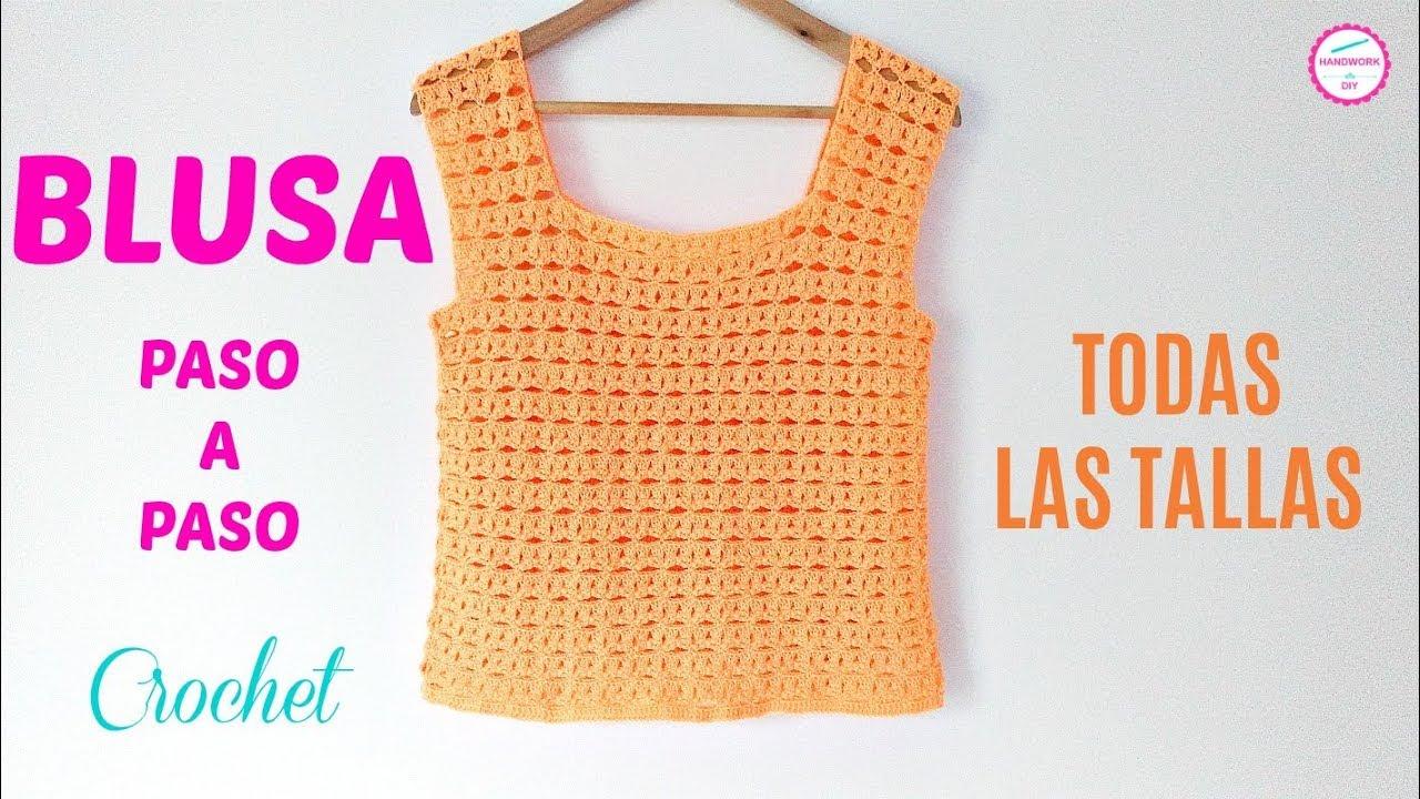 Blusa Crochet Muy Fácil De Tejer Todas Las Tallas Handwork Diy Youtube