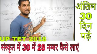 Up TET 2018 संस्कृत में 30 में से 28 नम्बर लाएं मात्र 30 दिन पढ़ें