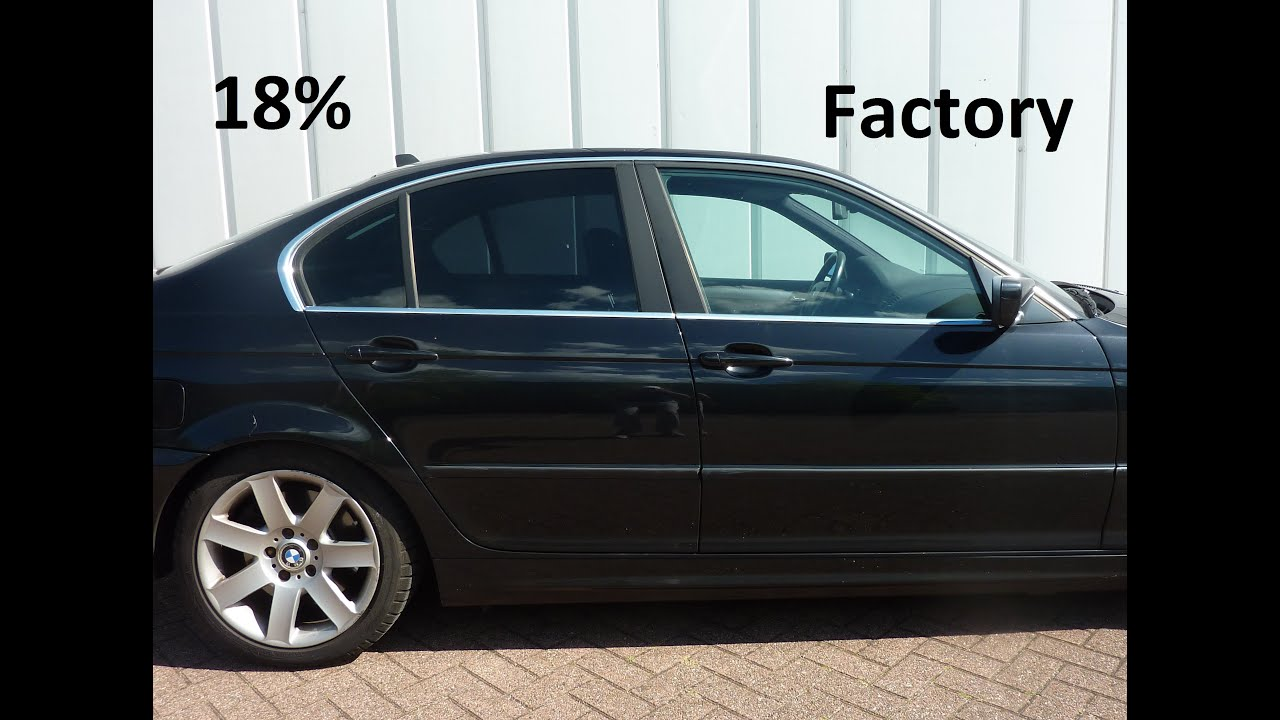 Factory tint vs 18 35 and 70 on bmw e46 youtube for 18 percent window tint
