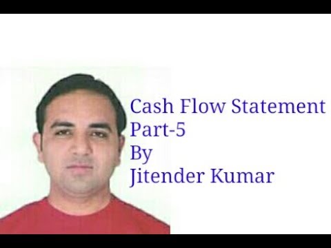 Cash Flow Statement- Financing Activities-By Jitender Kumar