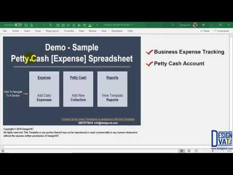 Expense Tracking Spreadsheet [Petty Cash Excel Template]