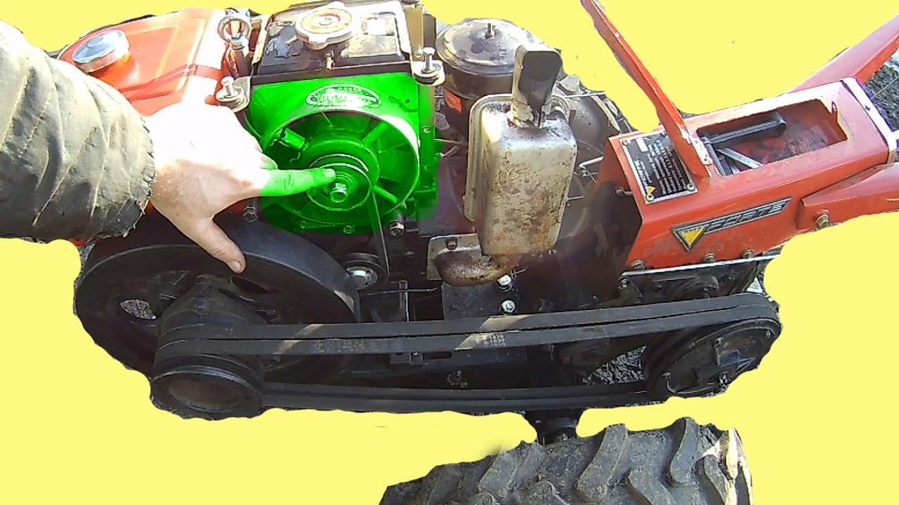 Перемотка генератора мотоблока зубр своими руками
