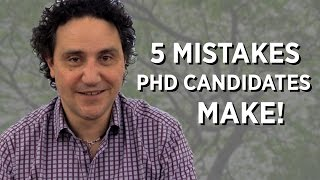 5 Mistakes PhD Candidates Make! thumbnail