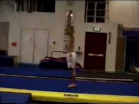 Freestyle acrobatics, double front on powerskips