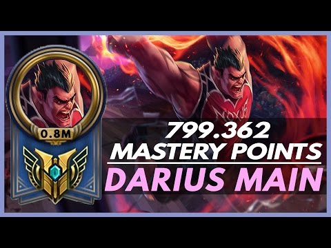 DARIUS MAIN - 0.8 M Mastery Points - Korean Darius  Montage 1 - League of Legends