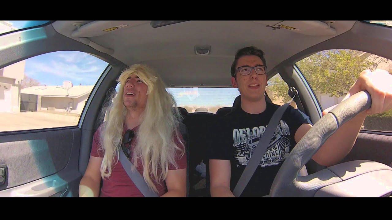 Cute guys in a car