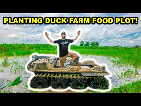 PLANTING a DUCK HUNTING Food Plot with the TANK at My FARM!!!!