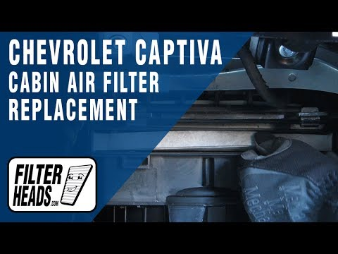 How To Replace Cabin Air Filter 2014 Chevrolet Captiva Youtube