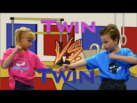 Sister vs Brother - Twin Gymnastics