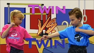 Sister vs Brother - Twin Gymnastics thumbnail