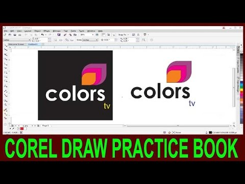 How To Make Logo In Corel Draw || Corel Draw Color TV Channel Logo Degine  In Hindi ||