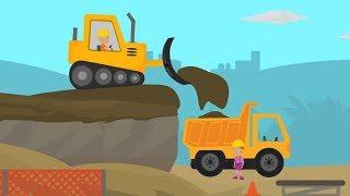 Trucks for Kids   Construction Excavator for Children   Excavator Cartoons - Monster Truck Videos