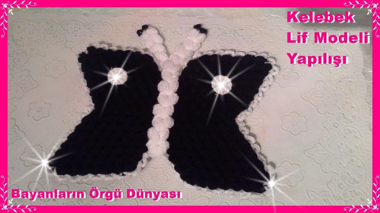 Örgü Kelebekli Burgu Modeli Yapılışı