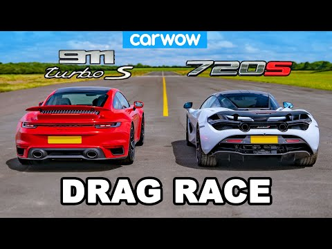 Porsche 911 Turbo S vs McLaren 720S: DRAG RACE