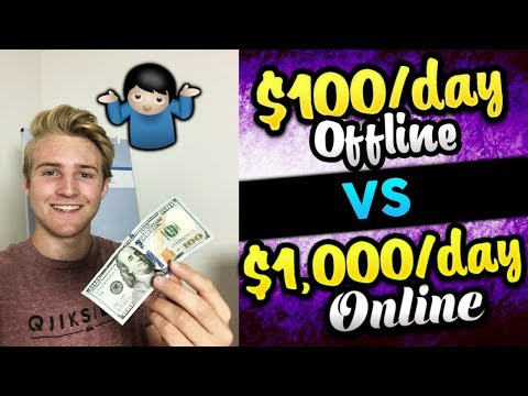Turning $100/Day OFFLINE into $1,000/Day ONLINE