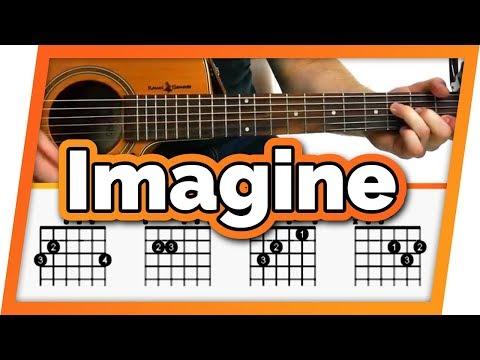 Imagine - John Lennon - Guitar Tutorial For Beginners | Imagine Easy Chords