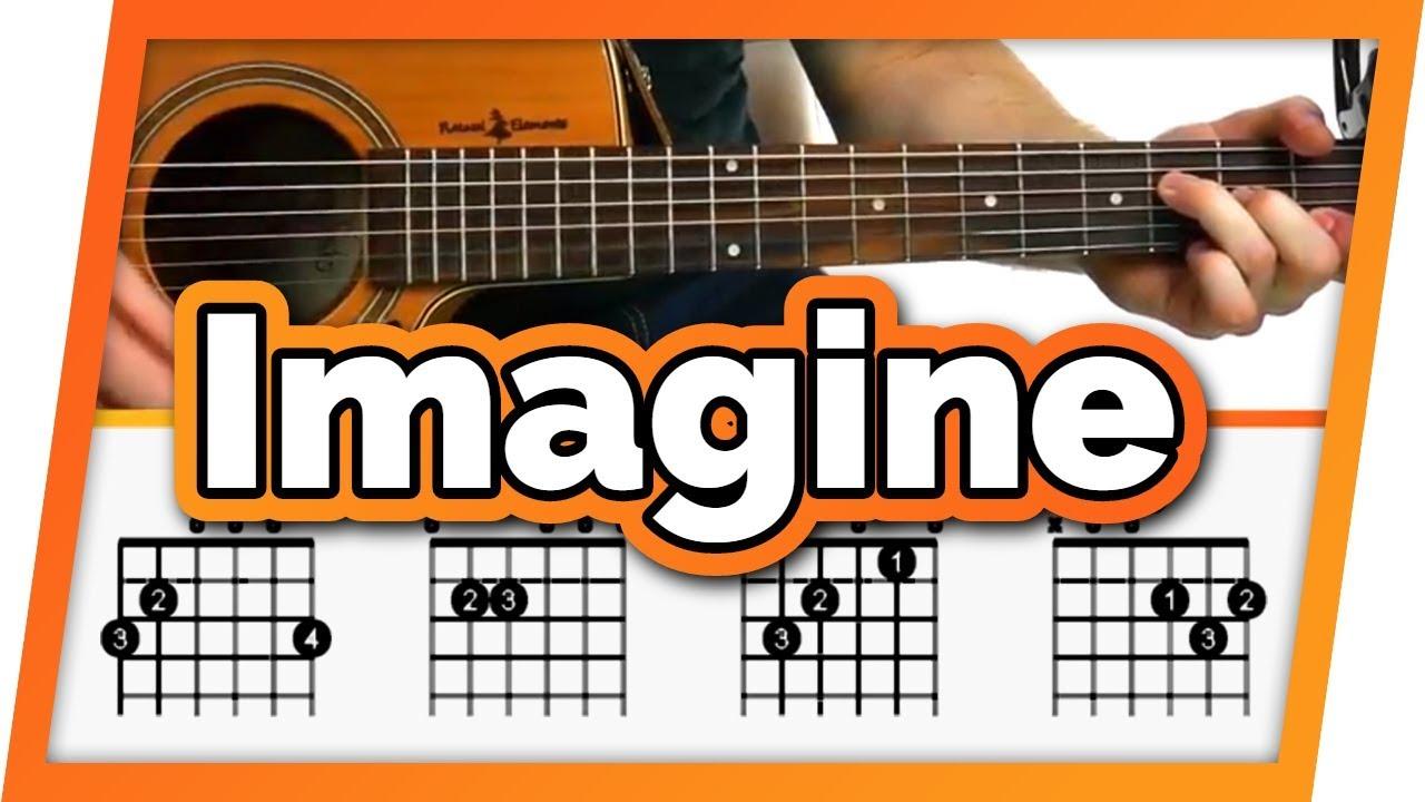 Imagine Guitar Tutorial John Lennon Easy Chords Guitar Lesson Youtube