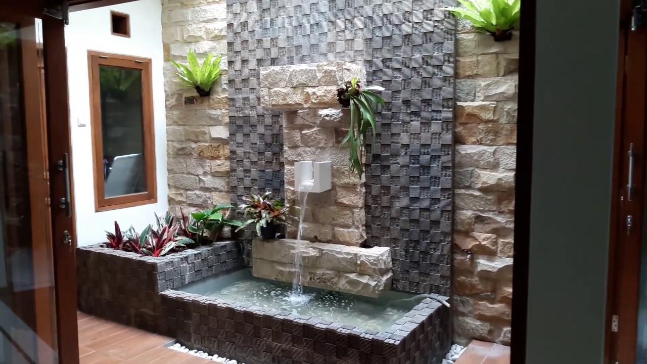 Taman Air Terjun Minimalis Dalam Rumah Destaman