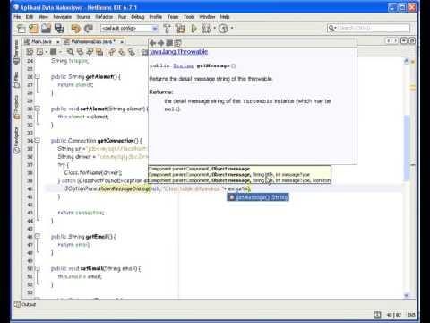 Tutorial Pemrograman Java Pembuatan Koneksi Ke database