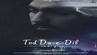 Tod Da-e-Dil (Official Video Song)   Ammy Virk ft. Maninder Buttar   New Latest Panjabi Song 2020
