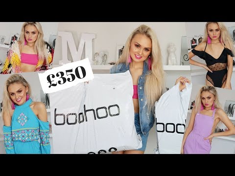 £350 BOOHOO HAUL // SUMMER TRY ON // £500 GIVEAWAY !!!