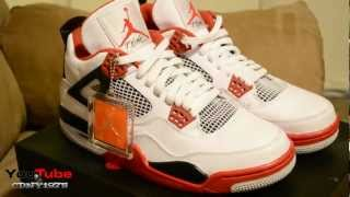 Air Jordan Retro IV Mars 4 Fire Red 2012s Early Review