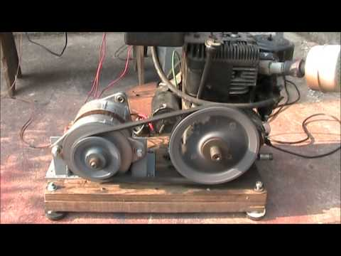 how to make a generator from a car alternator