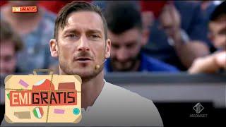 Emigratis - Totti e De Rossi vs Pio e Amedeo alla partita di Calciotennis