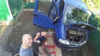 В гостях у МОТО 46. Придворный ремонт Фиат Дукато.