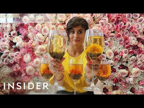 Floral Green Tea Blooms Into A Flower In Your Glass