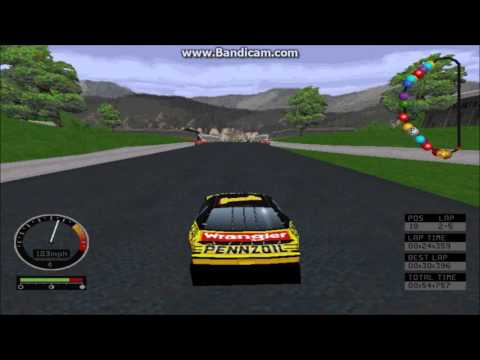 NASCAR Road Racing (PC) Gameplay (Steve Park) (Bridgeport Speedway) (5 Laps)