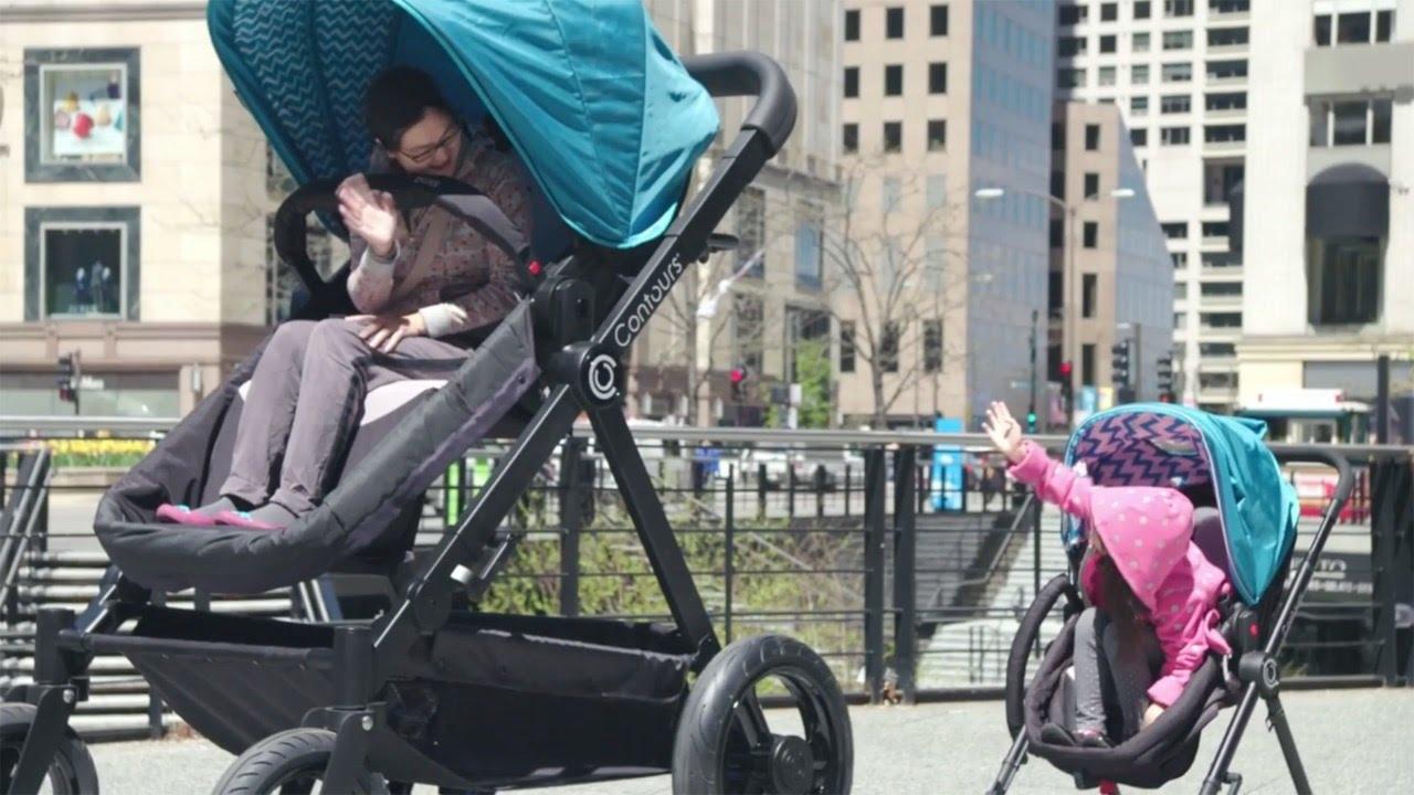 Riesen Baby Buggy Test Erwachsene Im Kinderwagen Youtube