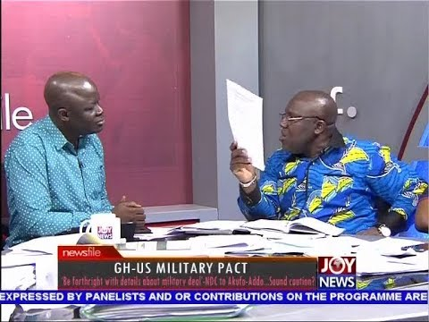 GH-US Military Pact PT 3 - Newsfile on JoyNews (21-3-18)