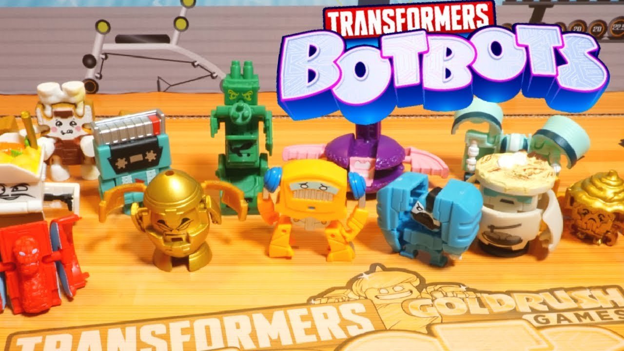 Download Transformers BotBots New GoldRush Games Series 5! GOLD 5 and 8 Packs Robots Training Center
